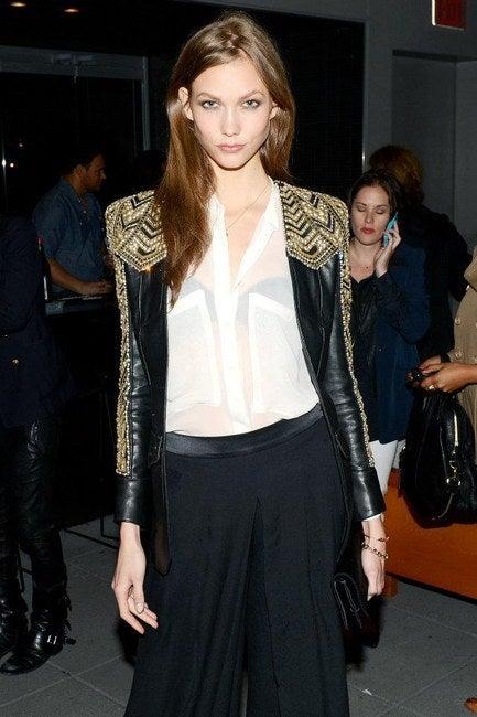 BALMAIN Embellished leather jacket NWT 5