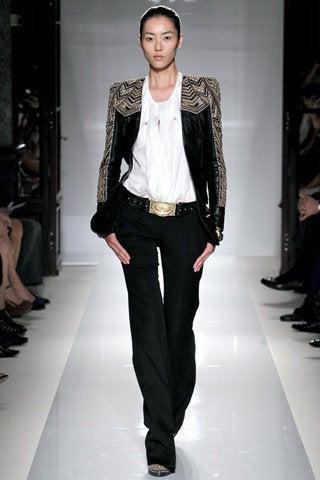 BALMAIN Embellished leather jacket NWT 7
