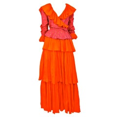 Yves Saint Laurent Orange & Pink Ensemble