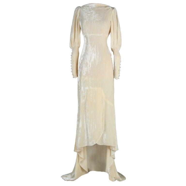 Vintage 1930 S Silk Velvet Wedding Dress