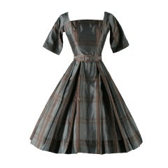 Vintage 1950's Suzy Perette Plaid Cocktail Dress