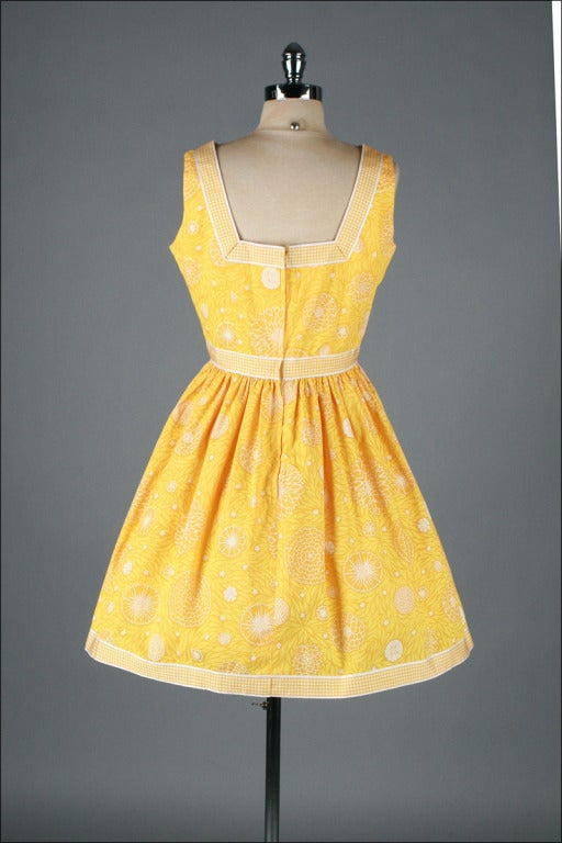 Vintage 1960 S Lilly Pulitzer Yellow Floral Sun Dress At
