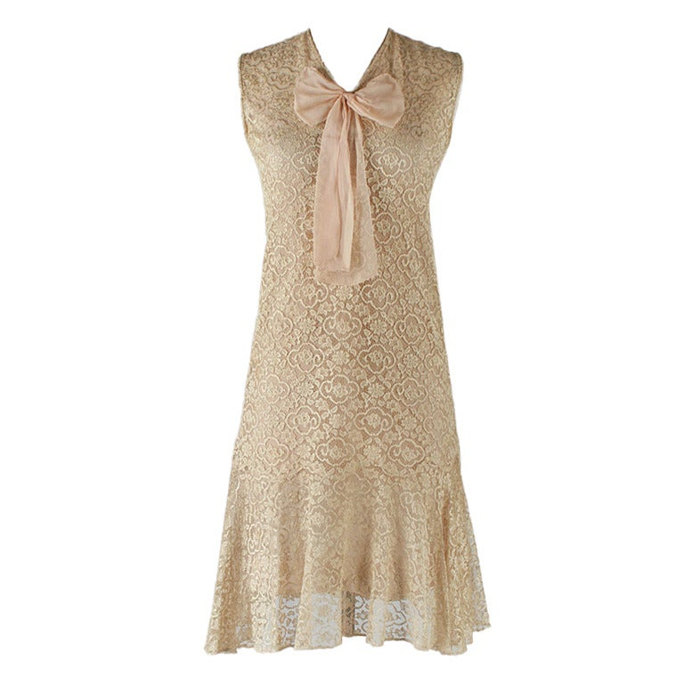 vintage 1920 s taupe lace dress and jacket at 1stdibs