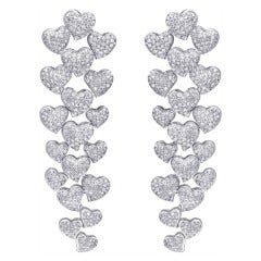 Long Hanging Diamond Earrings