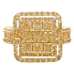 Yellow Diamond and Gold Ring