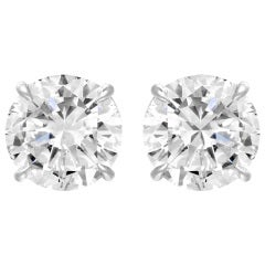 5.22 Carat Diamond Studs