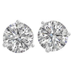 Amazing Sparkle Round Diamond Studs