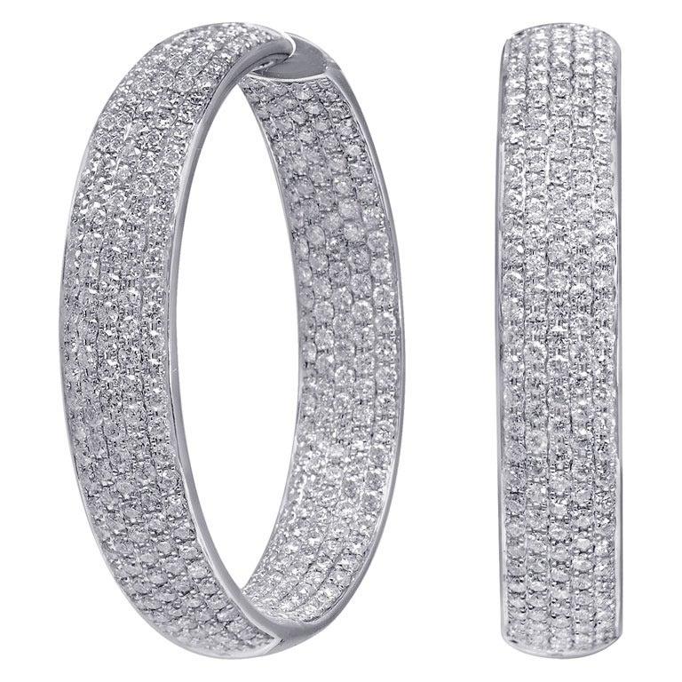 Large Diamond Hoop Earrings