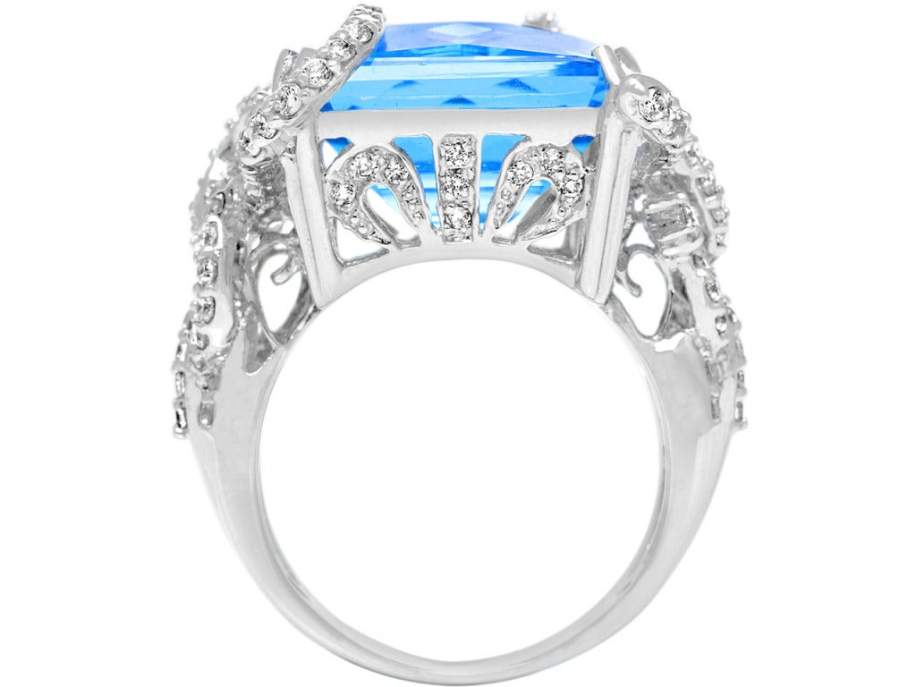 blue topaz and ring at 1stdibs