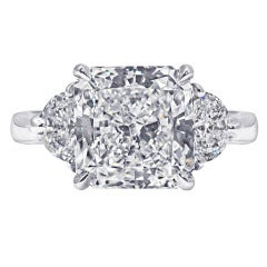 Three-Stone Radiant Cut Diamond Ring