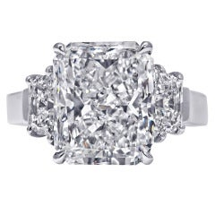 5.33 Carat Radiant-Cut Diamond Engagement Ring