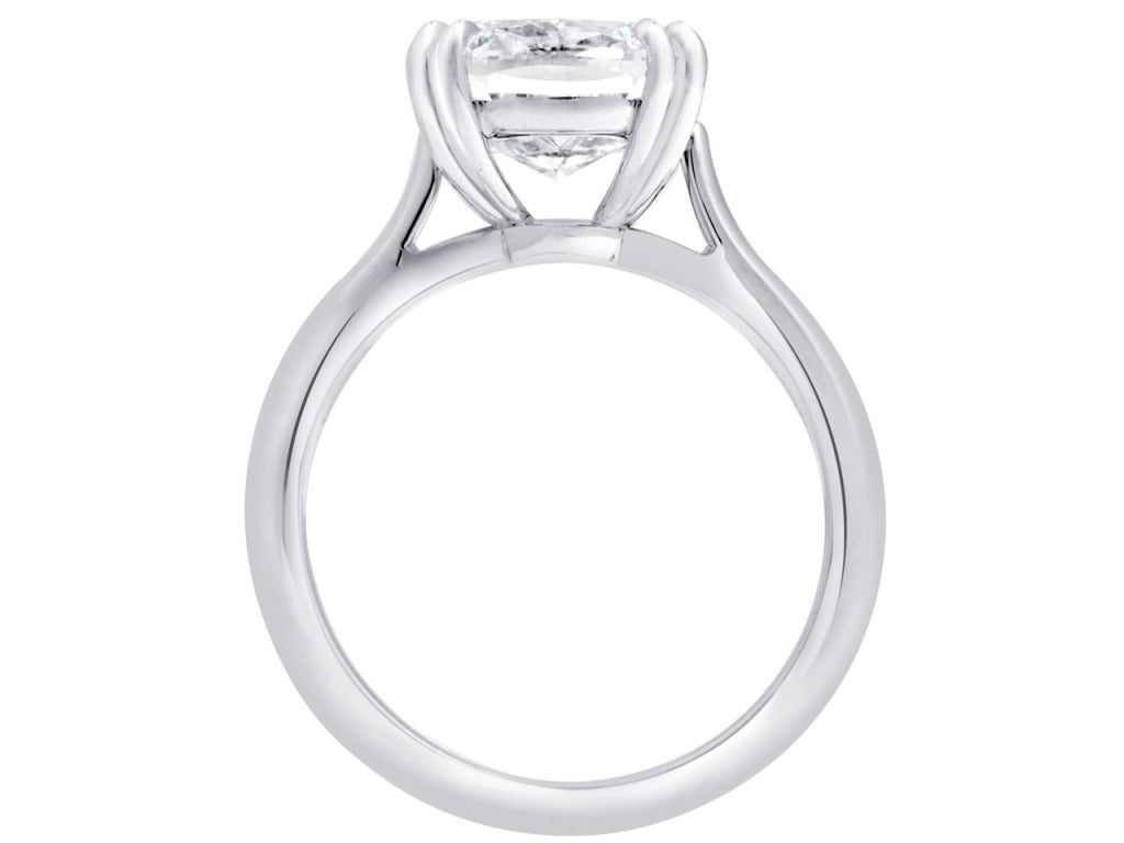 Flawless 4 Carat Solitaire Engagement Ring image 2