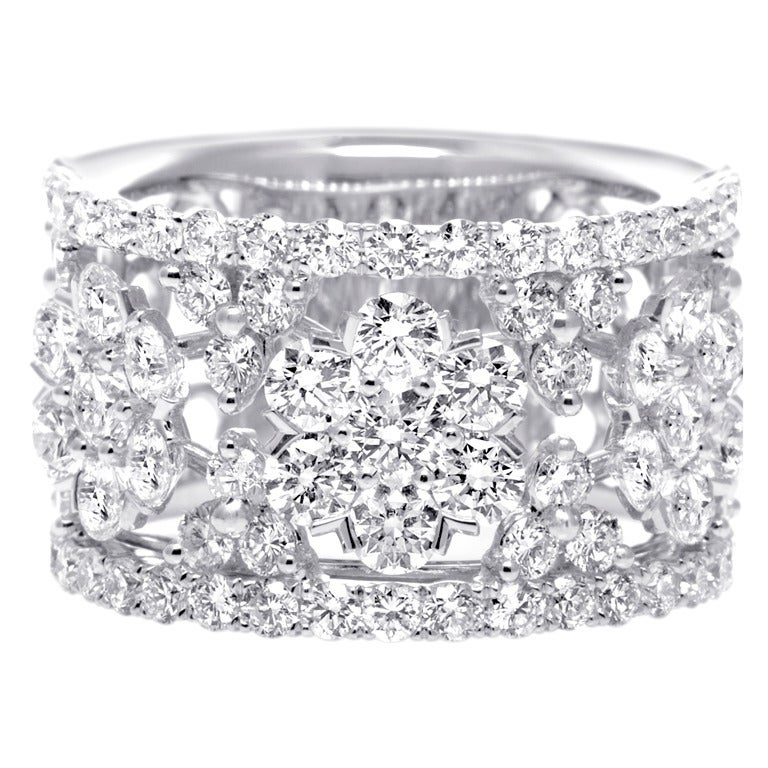 wide diamond wedding band at 1stdibs