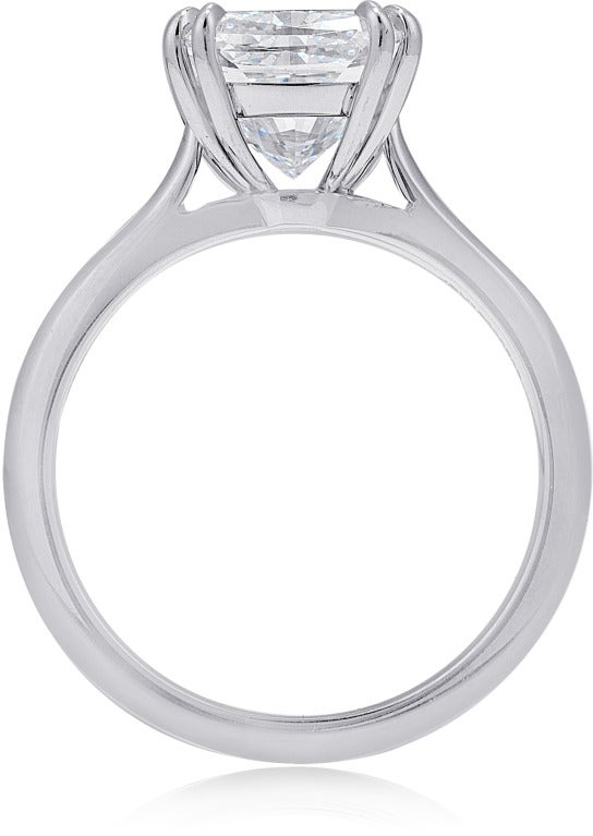 3.01 carat Cushion-cut F color Solitaire Engagement Ring 2