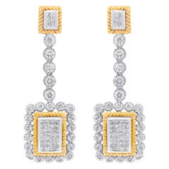 White Diamond Drop Earrings