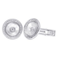 Diamond Gold Cufflinks