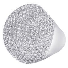 Large Pave Bombe Dome Ring
