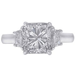 2.08 Carat Radiant-Cut Diamond Platinum Engagement Ring