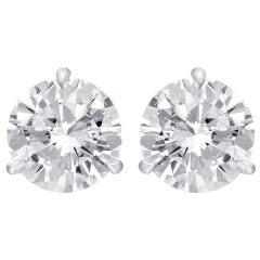 Amazing Pair of Round Diamond Studs 6.09 Carat
