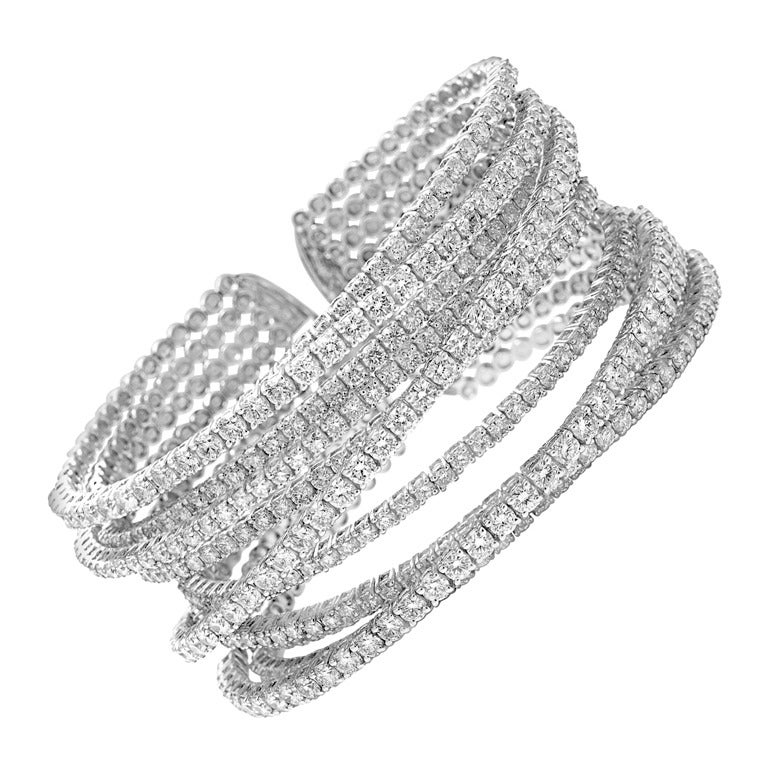 Large Diamond Cuff 1