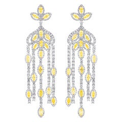 Dramatic Diamond Chandelier Earrings