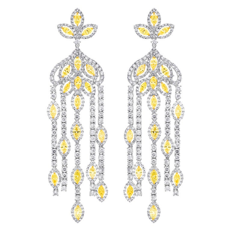 Dramatic Diamond Chandelier Earrings For Sale at 1stdibs