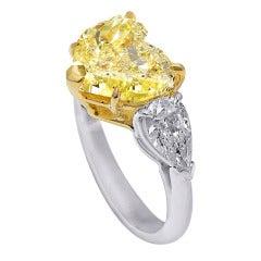 Heart Shaped Three-Stone Engagement Ring