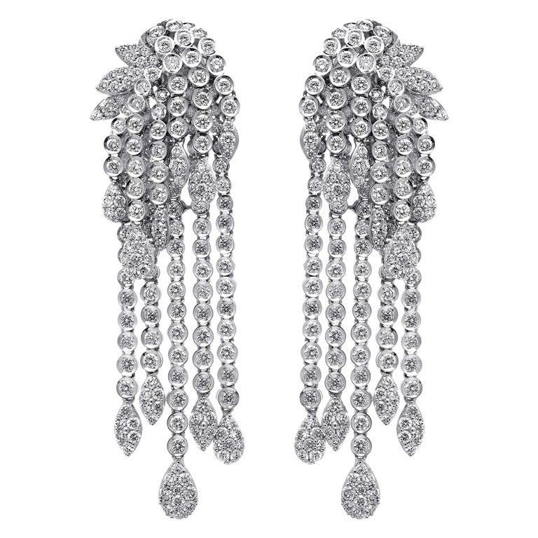 Chandelier Diamond Earrings For