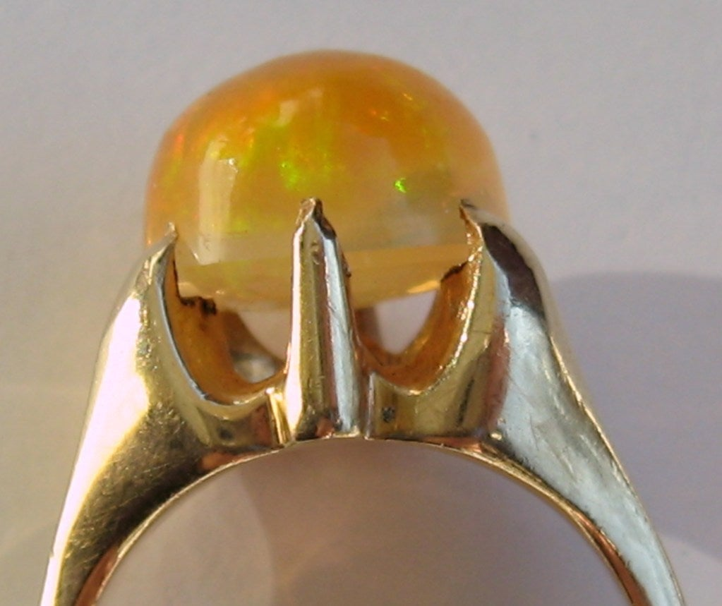 gold antique mexican opal ring at 1stdibs