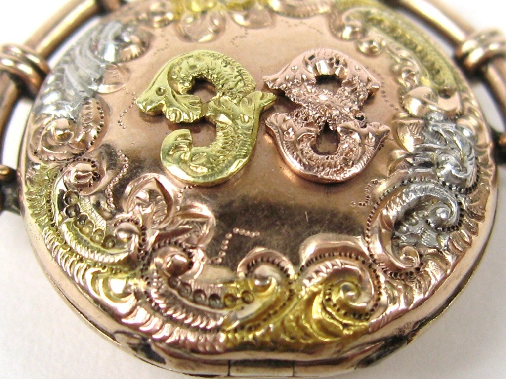 1898 tri colored gold victorian perfume locket for sale at 1stdibs