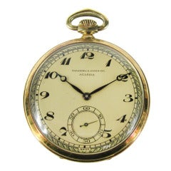 Agassiz Yellow Gold Open Face Pocket Watch