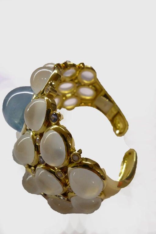 Temple St. Clair Aquamarine Sapphire Diamond Gold Bracelet 3