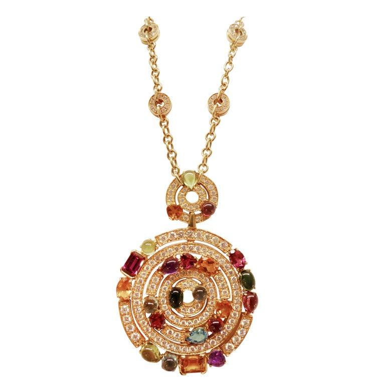 bulgari pendant necklace at 1stdibs
