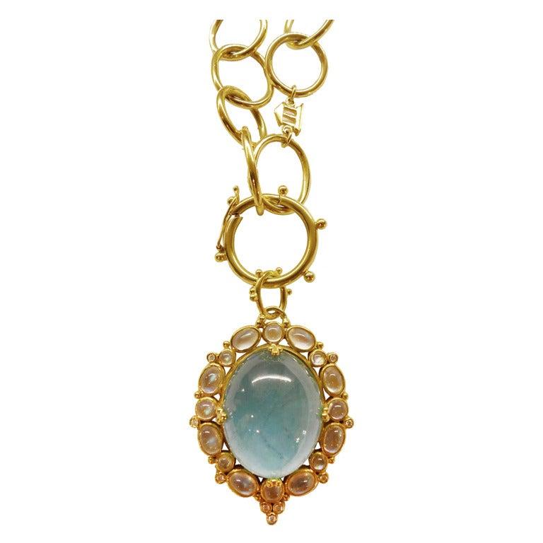 temple st clair aquamarine moonstone gold necklace