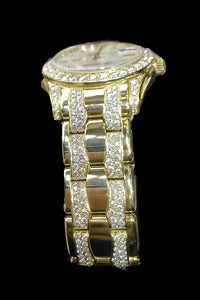 Rolex Lady's Yellow Gold and Diamond Pearlmaster Wristwatch 5