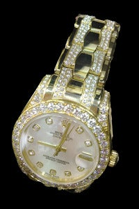 Rolex Lady's Yellow Gold and Diamond Pearlmaster Wristwatch 6