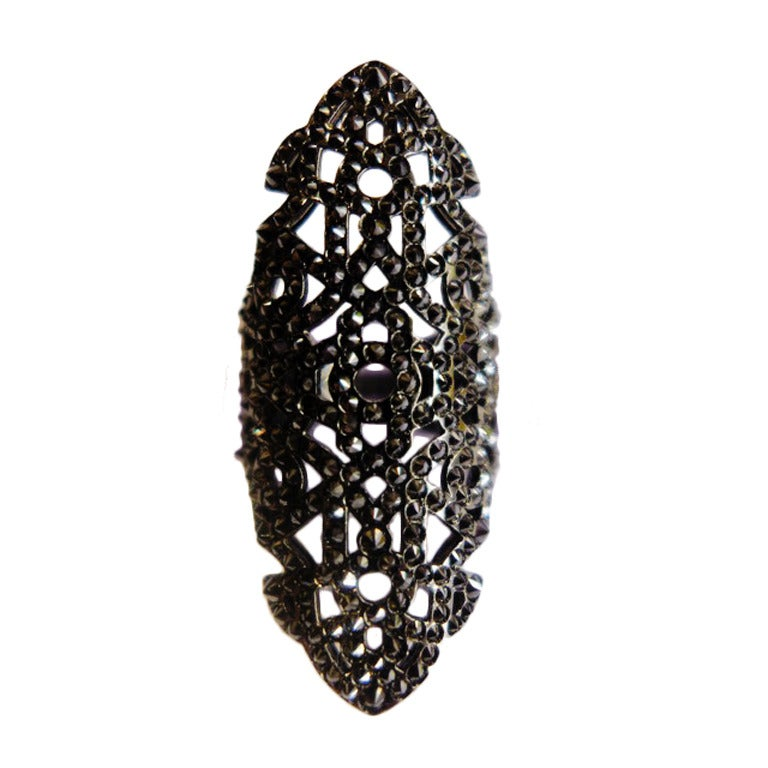Blackened White Gold Repossi Ring