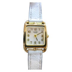 Hermes Lady's Yellow Gold Cape Cod Wristwatch