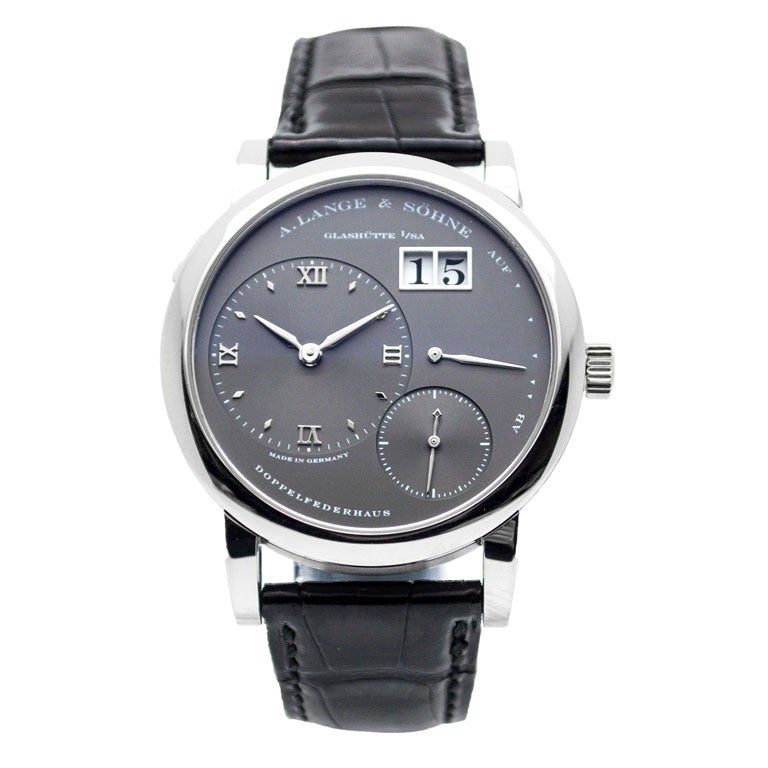 A. Lange and Sohne White Gold Small Lange 1 Wristwatch at ...