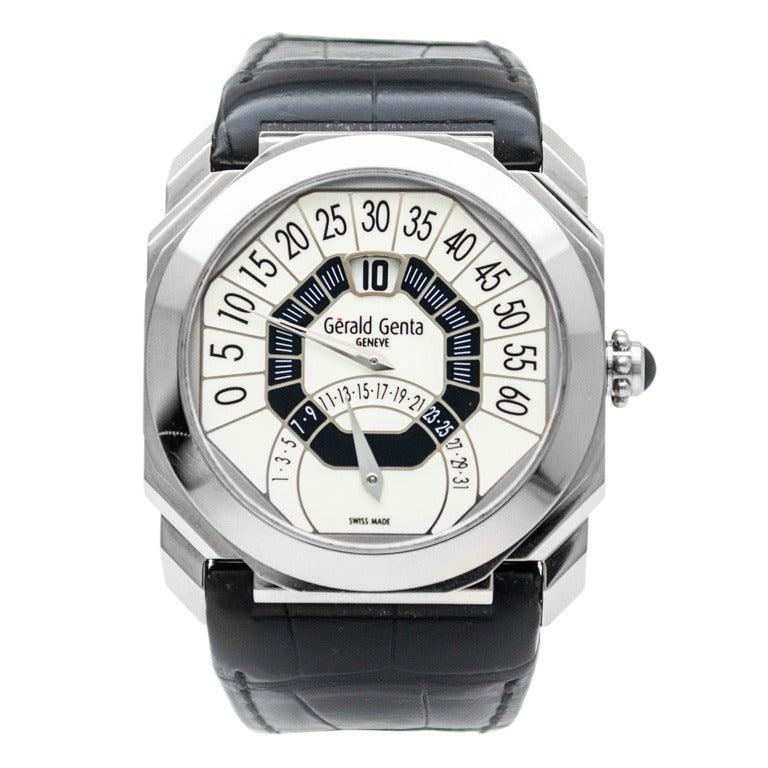 Gerald Genta White Gold Octo Bi-Retro Wristwatch at 1stdibs