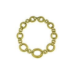 Givenchy Twisted Gold Link Necklace
