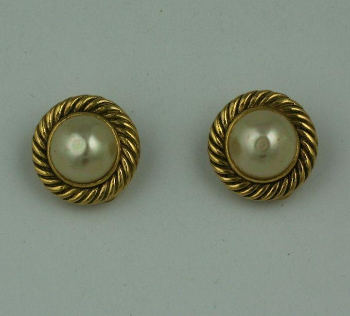 Classic Chanel Pearl Earrings 2