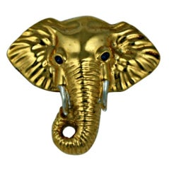 Gilt Sterling Elephant Brooch