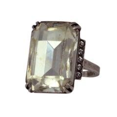 Eisenberg Sterling Cocktail Ring
