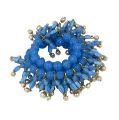 Rare MIriam Haskell Fringed Wrap Bracelet