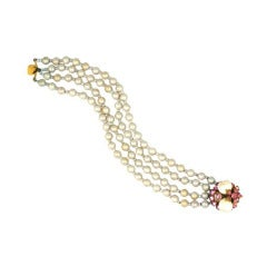 Miriam Haskell Freshwater Pearl Bracelet