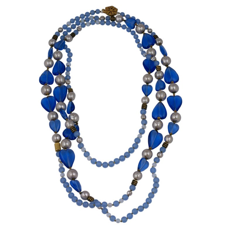 Miriam Haskell Long Necklace For Sale
