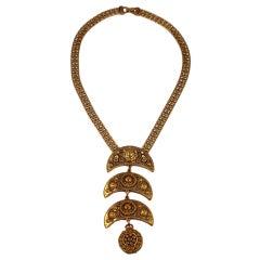 Etruscan Style Locket Pendant Necklace