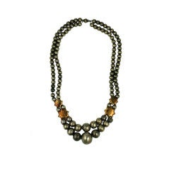 Sterling Star Bead Necklace