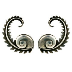 Georg Jensen Fern Earrings